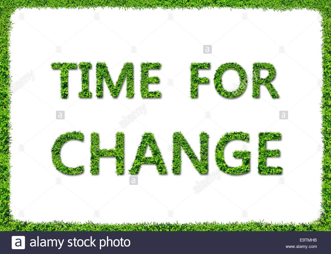 Tiempo de cambio - Concepto de hierba verde Imagen De Stock