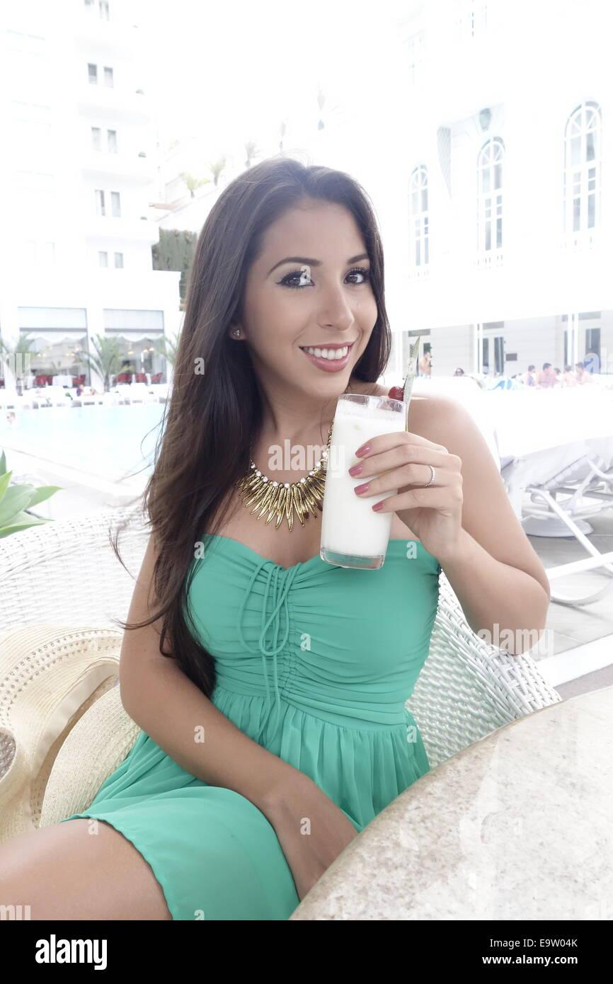 Río de Janeiro, Copacabana Hotel Copacabana Palace, joven, Brasil (modelo-liberado) Imagen De Stock