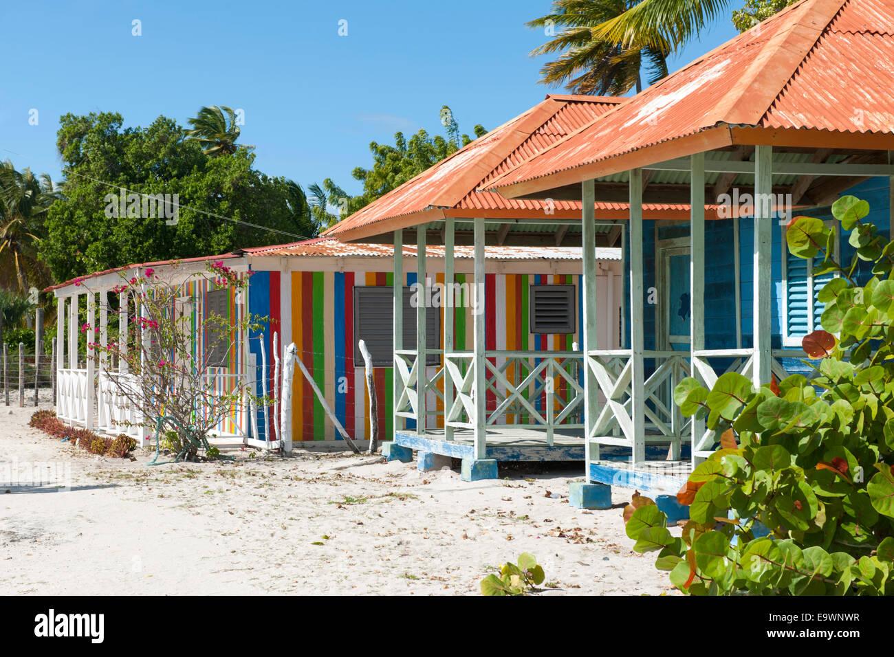 Dominikanische republik, osten, Bayahibe, Parque nacional del este, insel Saona, inseldorf mano juan Imagen De Stock