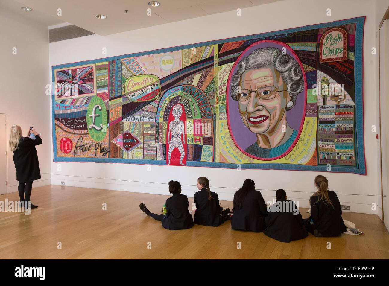 """Manta 'Comfort' 2014 por Grayson Perry en la National Portrait Gallery, parte del """"Quién eres?"""" Imagen De Stock"""