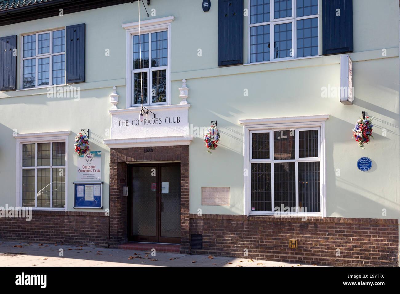 Coulsdon camaradas Club, Coulsdon, Surrey Imagen De Stock