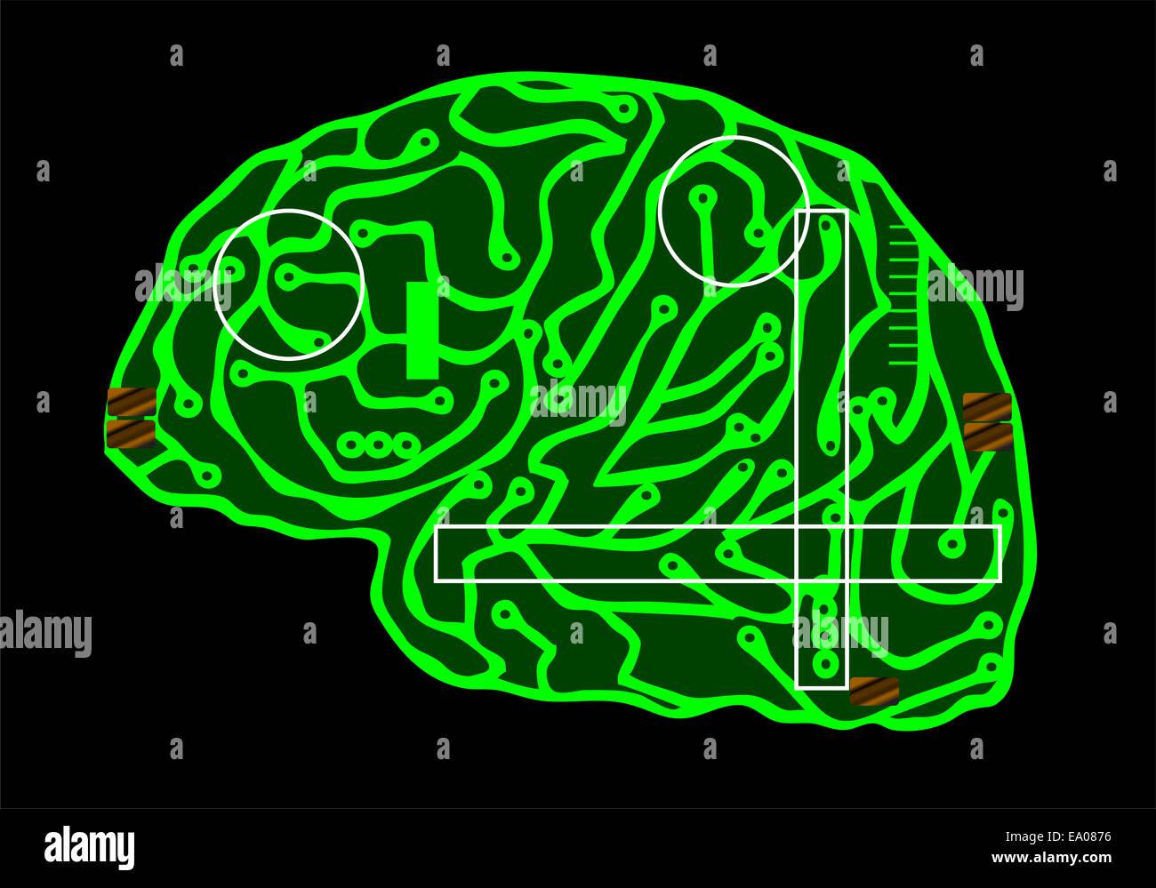 cerebro Foto de stock
