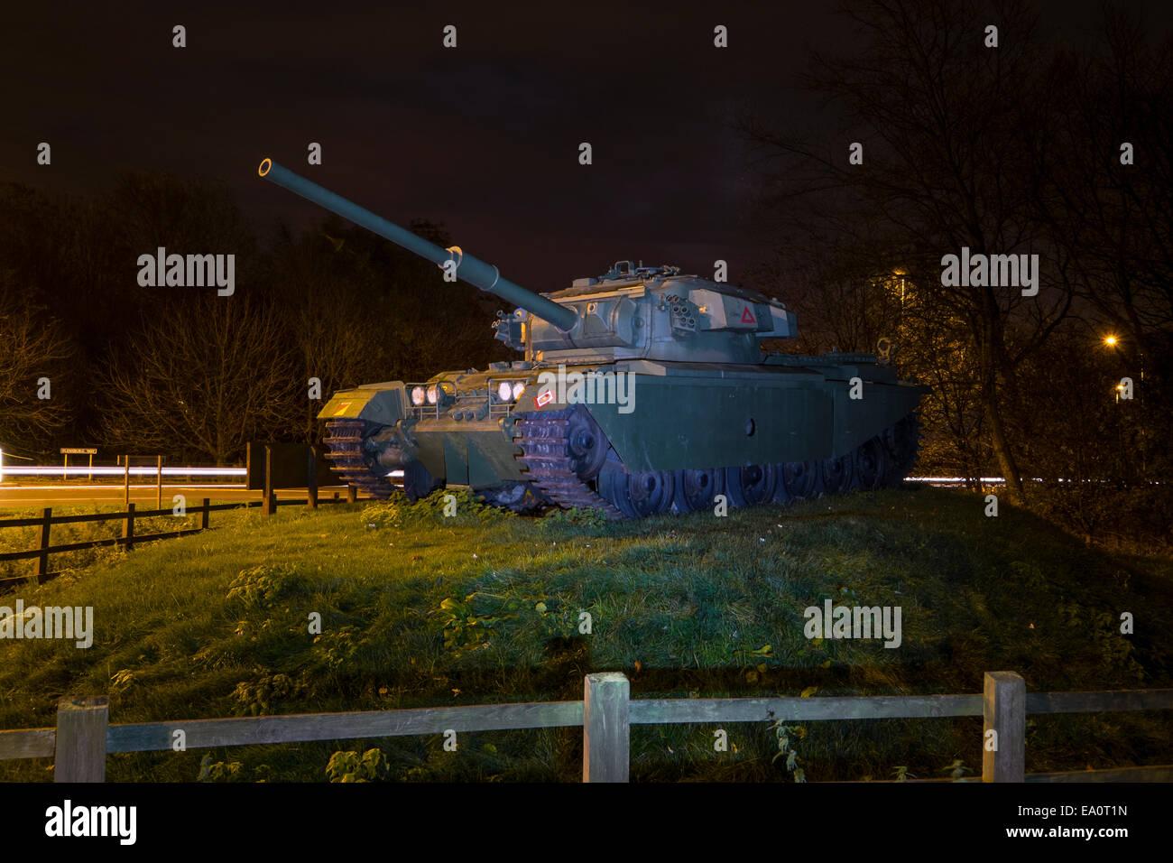 Leyland Lancashire: Tanque Centurion cerca de donde fueron construidas Imagen De Stock