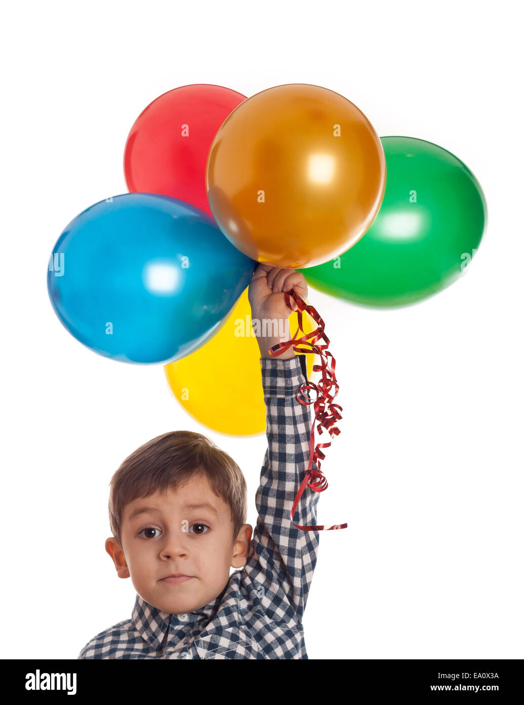 Niño con globos Imagen De Stock