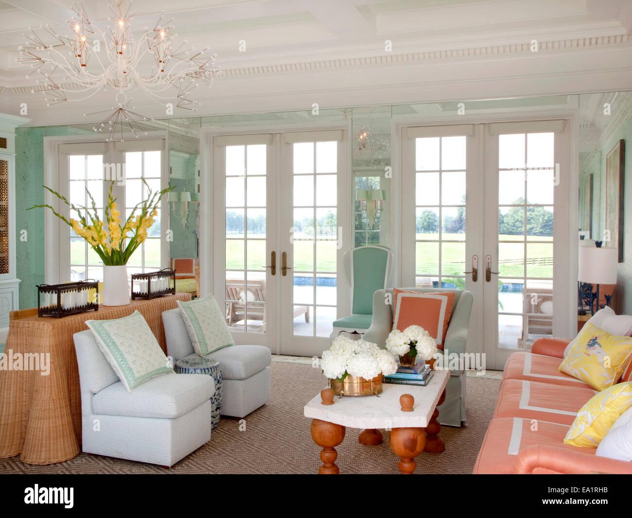 Interior de guest cottage salón Imagen De Stock