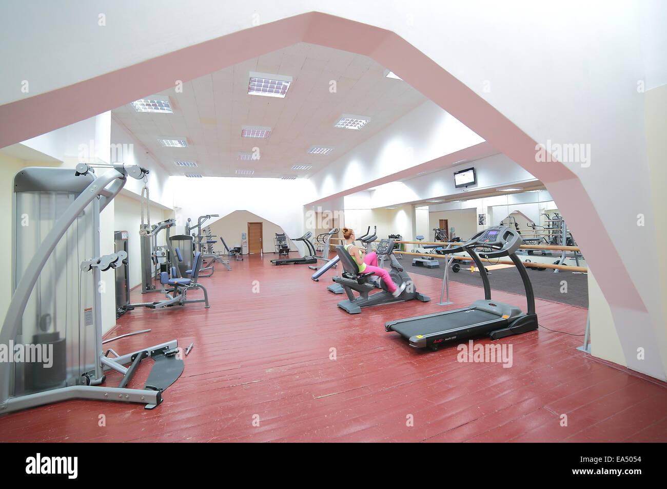 Traineger equipos de gimnasio, gimnasio Imagen De Stock