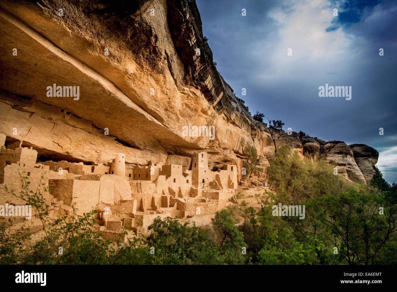 Ee.Uu., Colorado, Montezuma, el Palacio y el Parque Nacional Mesa Verde Imagen De Stock