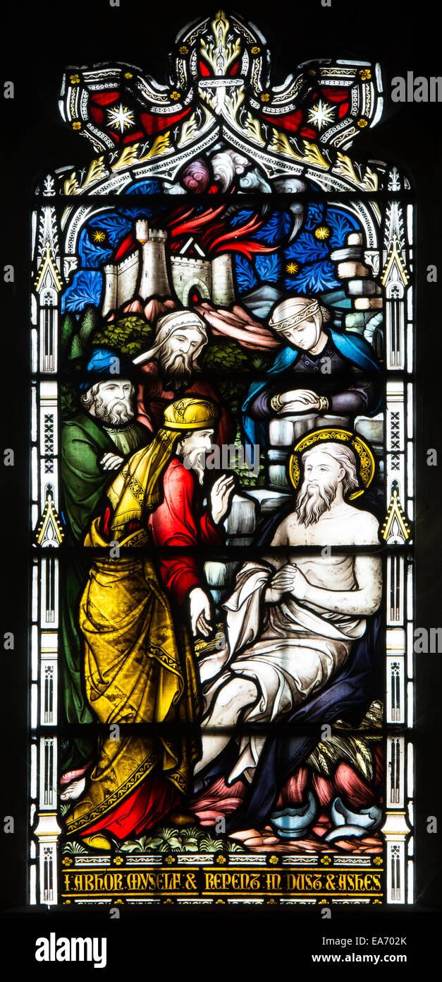 Trabajo vidrieras, la Basílica de San Marco, Leamington Spa, REINO ...