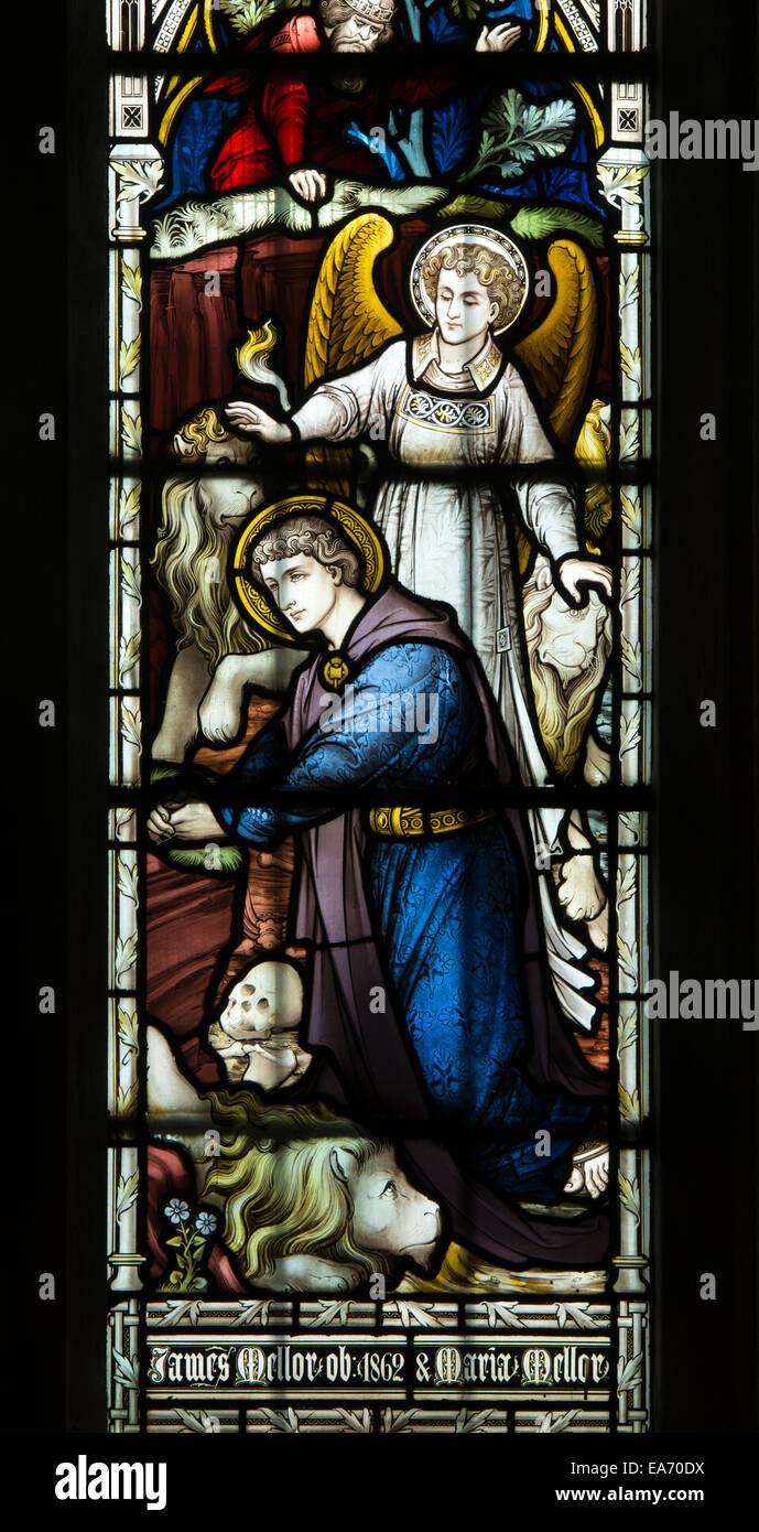 Daniel en el Lion\'s Den vidrieras, la Basílica de San Marco ...