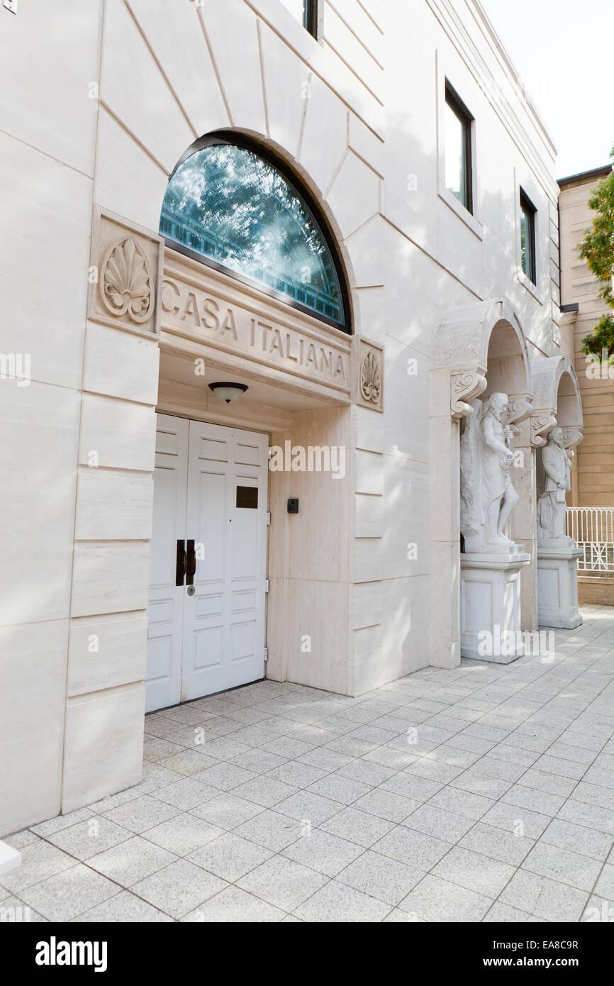 Casa Italiana (Holy Rosary Church) - Washington, DC, EE.UU. Imagen De Stock