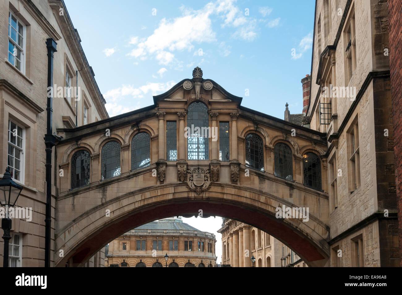 El Puente de los suspiros de Hertford New College Oxford Lane Imagen De Stock