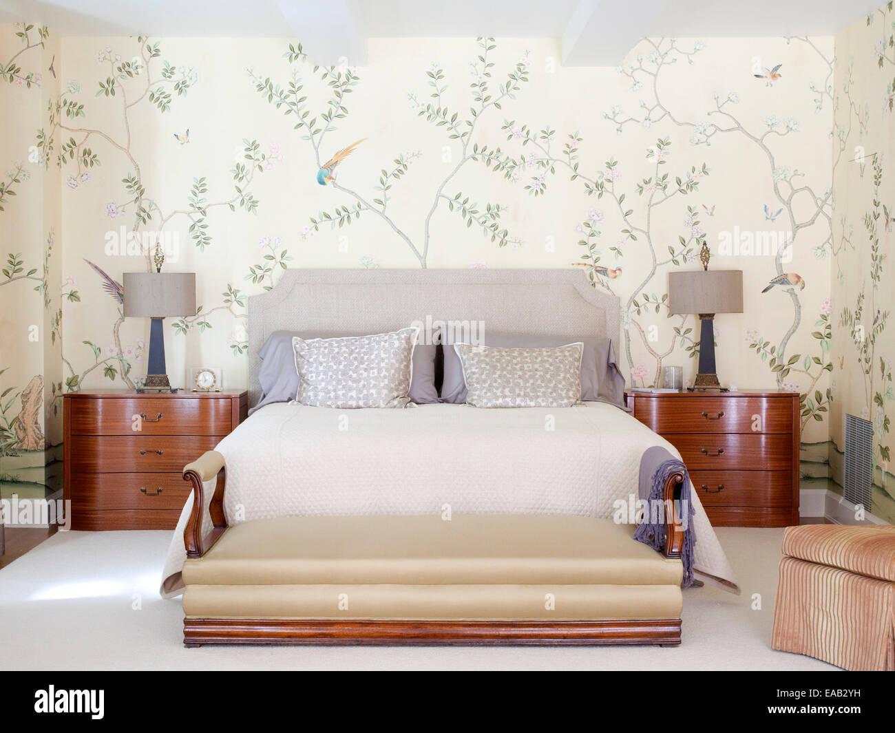 Dormitorio lujoso tradicional Imagen De Stock