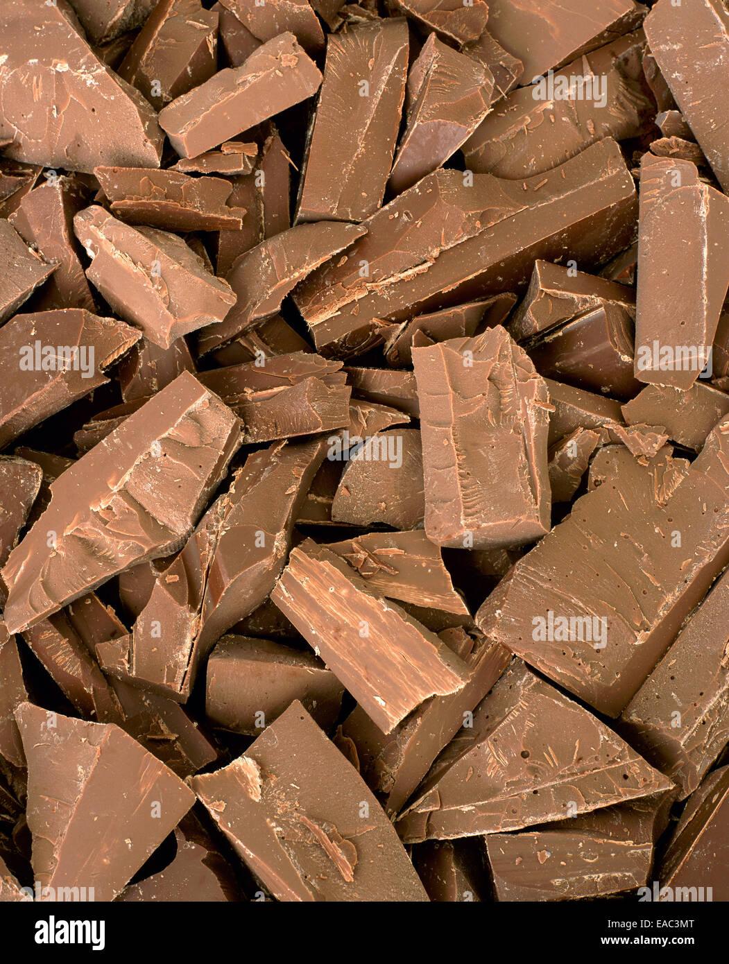 Los trozos de chocolate Imagen De Stock