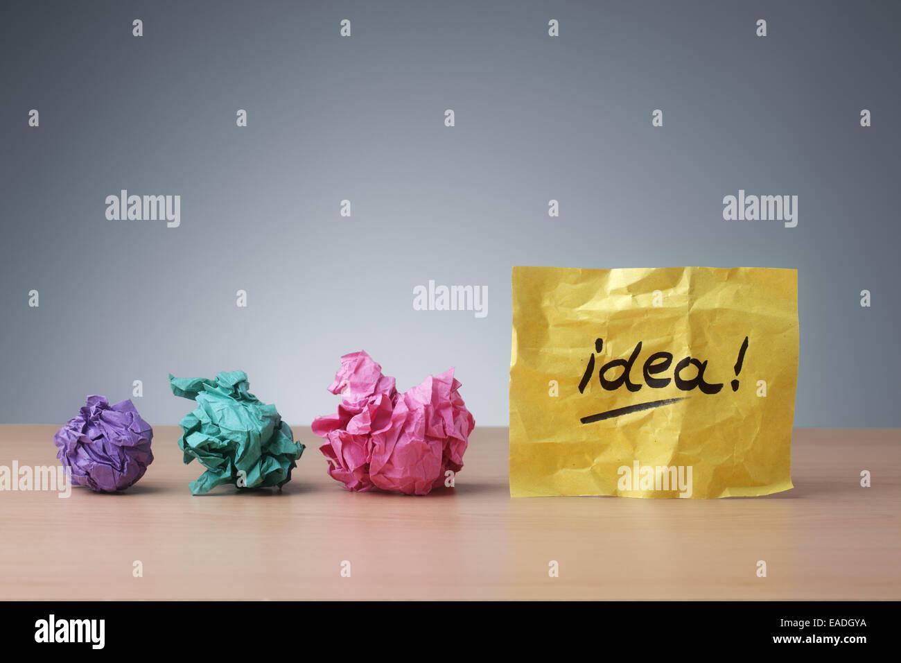 Evolución de la idea Imagen De Stock