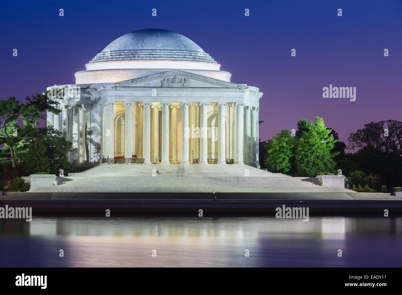 El Thomas Jefferson Memorial es un monumento conmemorativo presidencial en Washington, D.C, dedicada a Thomas Jefferson. Imagen De Stock