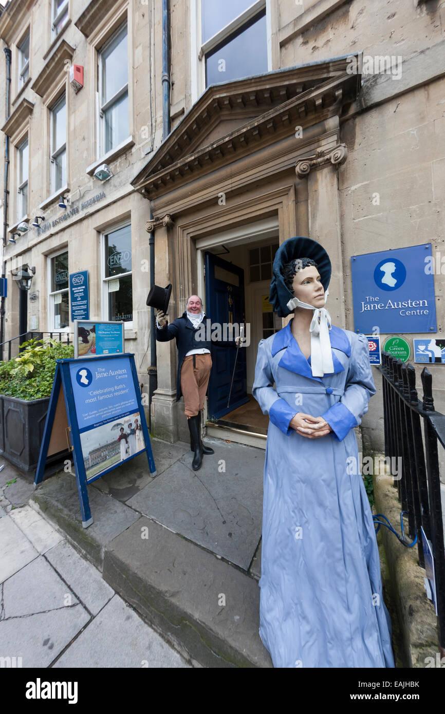Fuera del Museo de Jane Austen en Bath, Somerset Imagen De Stock