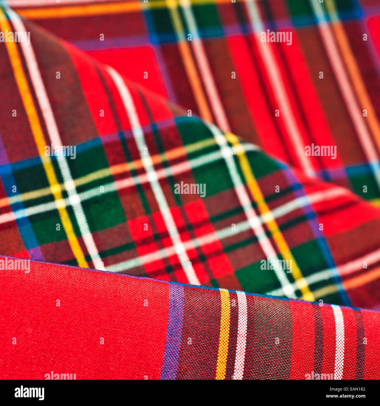 Tartan fondo textil Imagen De Stock