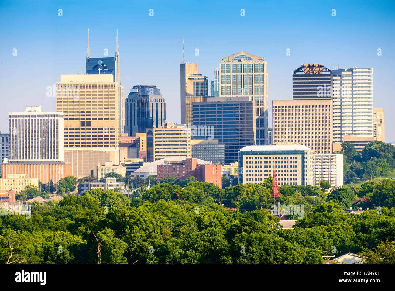 Nashville, Tennessee, EE.UU. Perfil del centro de la ciudad. Imagen De Stock