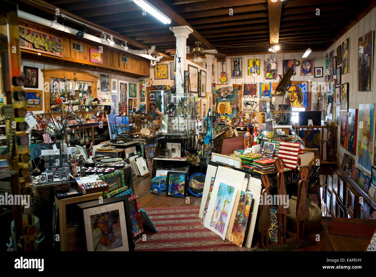 Interior de la Buhardilla Galería. Vicksburg Mississippi Imagen De Stock