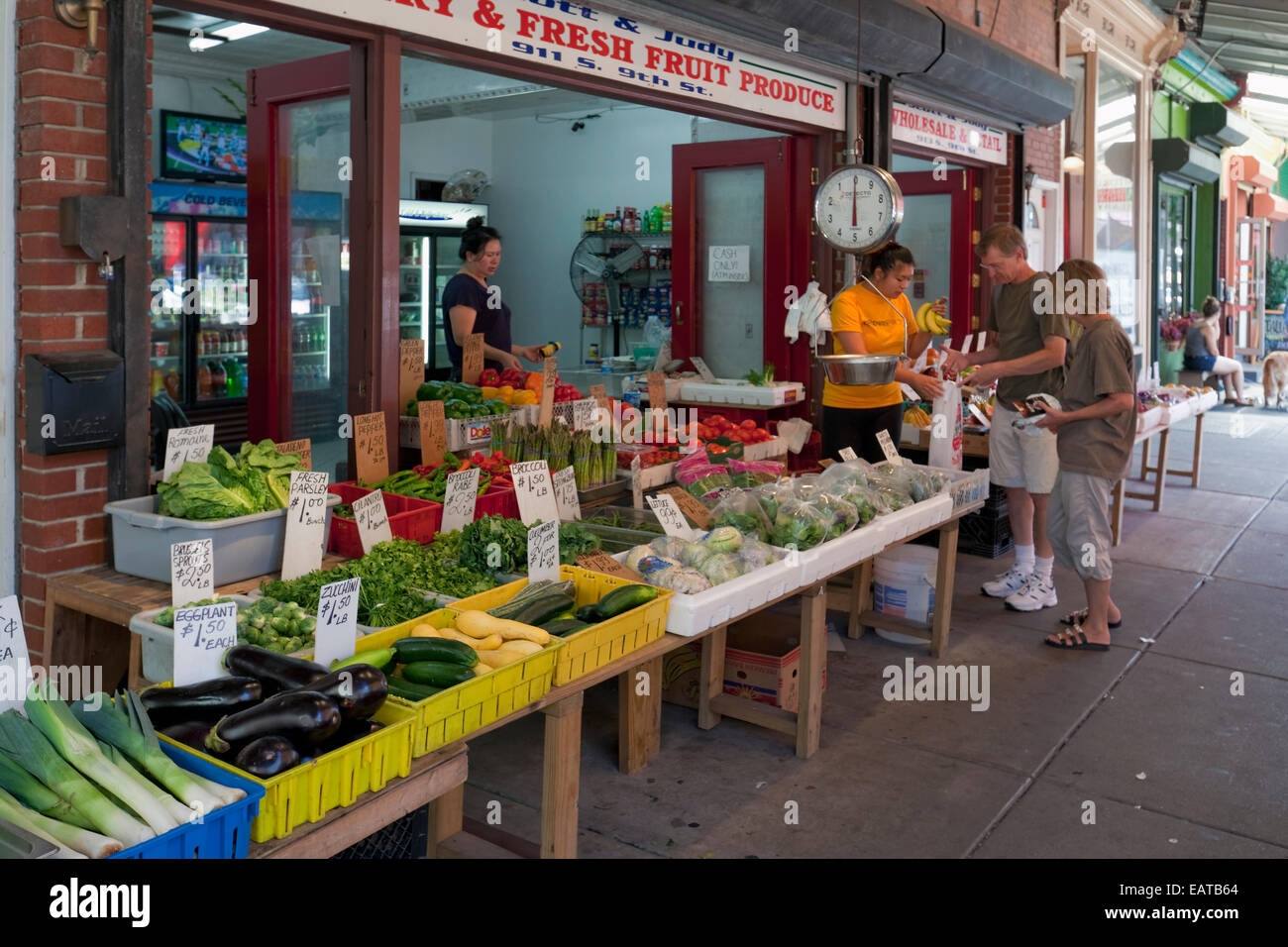 El mercado italiano - 9th Street, Philadelphia, PA Imagen De Stock