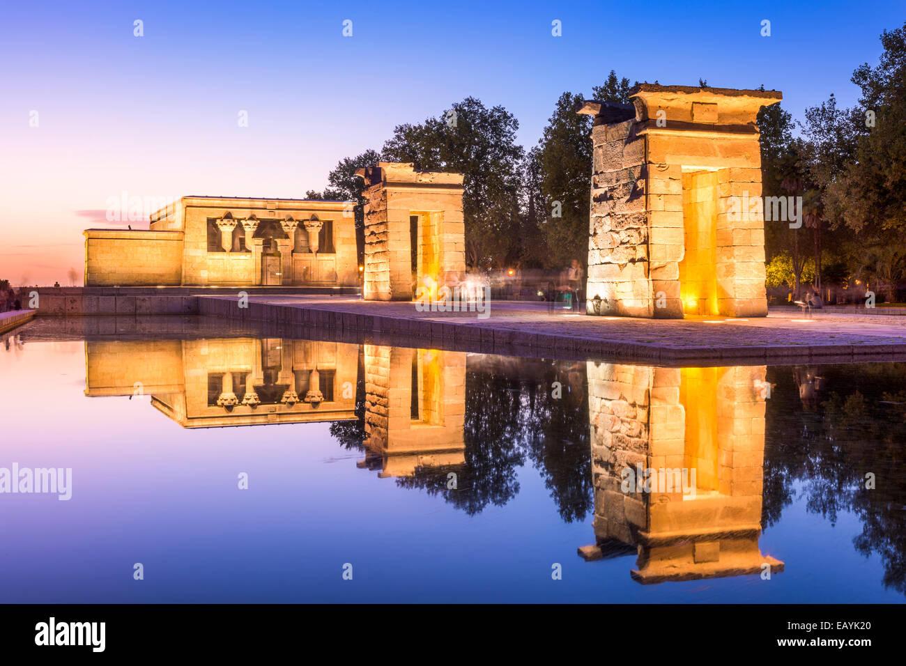Templo de Debod en Madrid, España. Imagen De Stock
