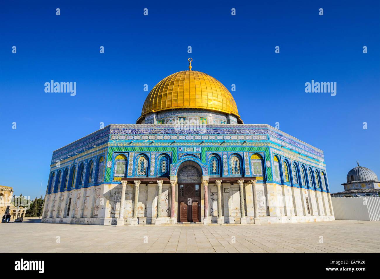 Jerusalén, Israel en la cúpula de la roca, una de las más antiguas obras de la arquitectura islámica. Imagen De Stock