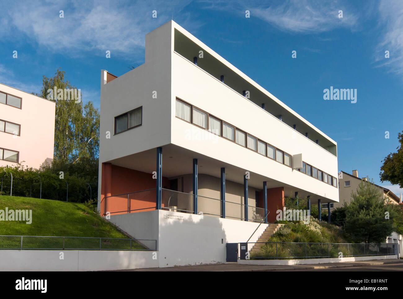 Haus le corbusier por los arquitectos le corbusier y pierre jeanneret museo weissenhofsiedlung - Arquitecto le corbusier ...