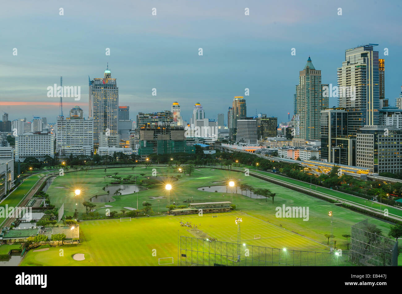 Park, en la ciudad de Bangkok, Tailandia Imagen De Stock