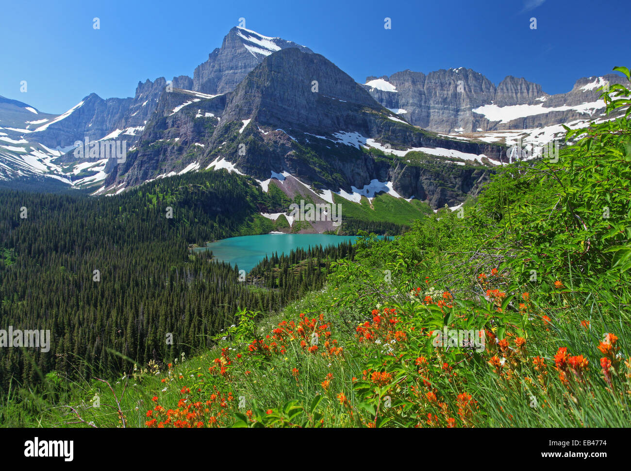 Glacier National Park en Montana Imagen De Stock