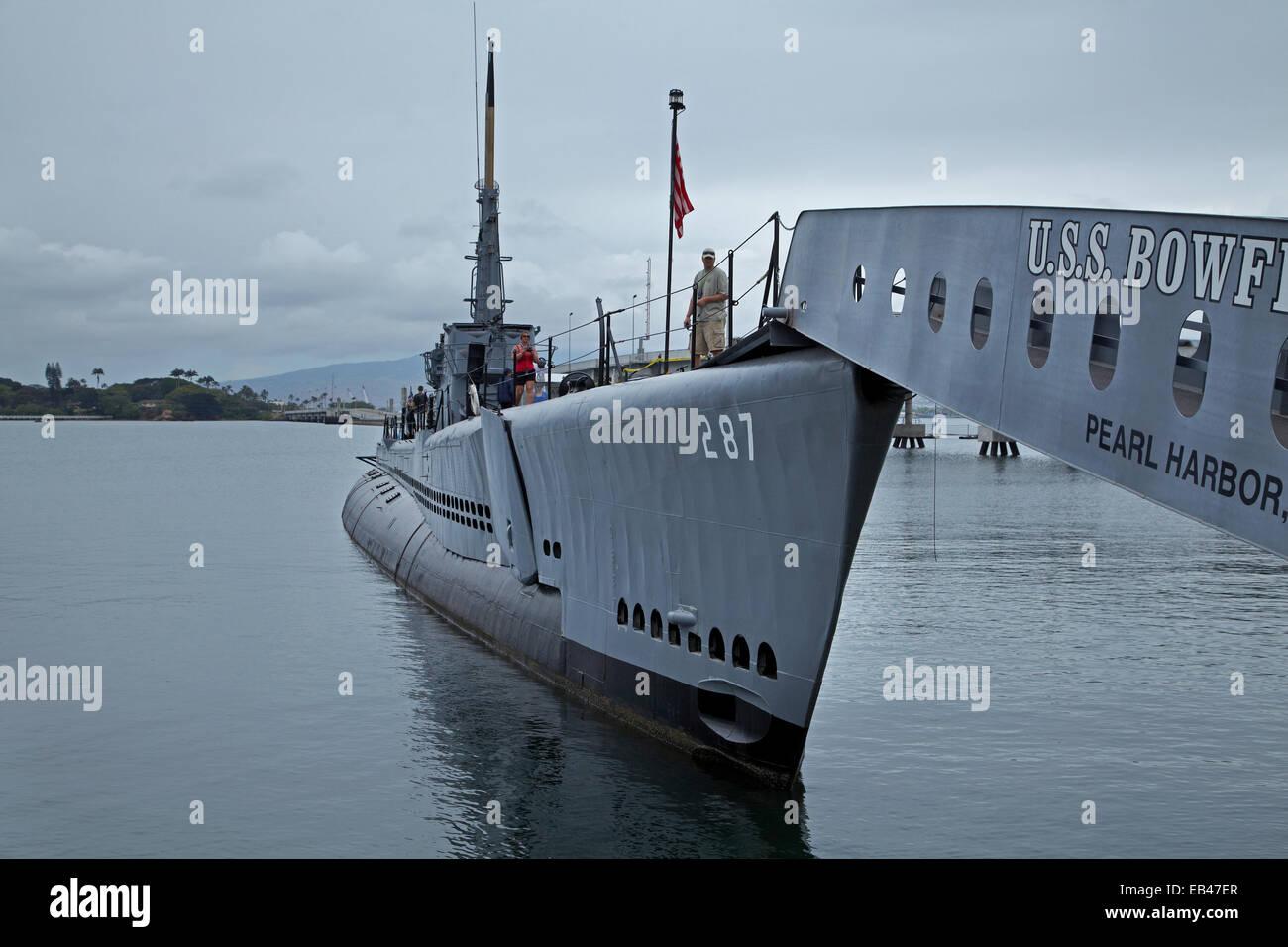 USS Bowfin Submarine (1942), Pearl Harbor, Honolulu, Oahu, Hawaii, EE.UU. Imagen De Stock