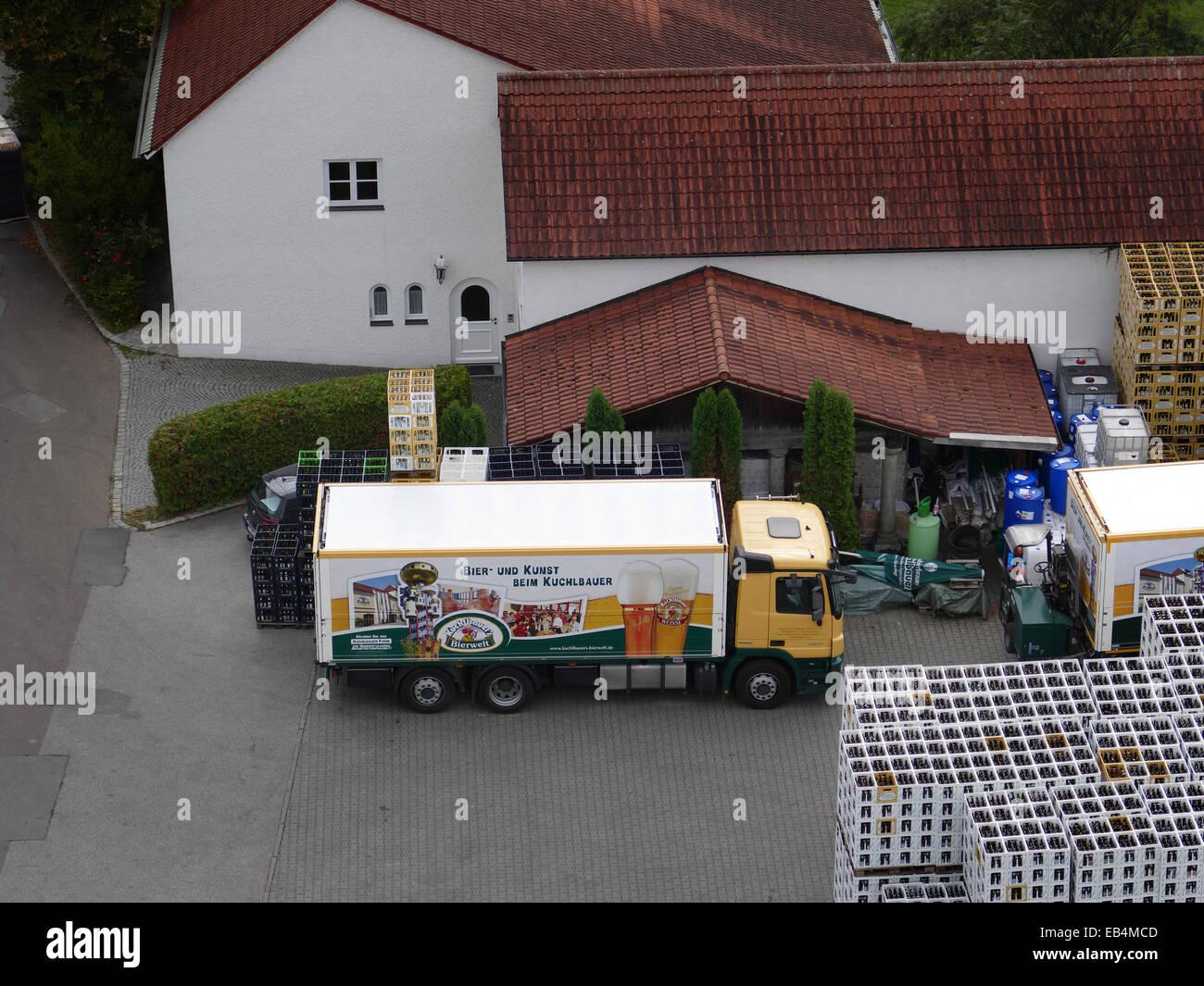 Abensberg Cervecería Kuchlbauer fabricación Imagen De Stock