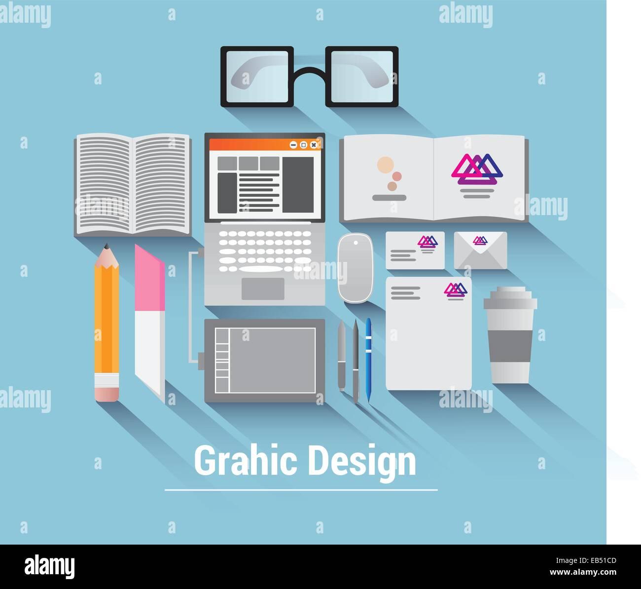 Vector diseño gráfico Imagen De Stock