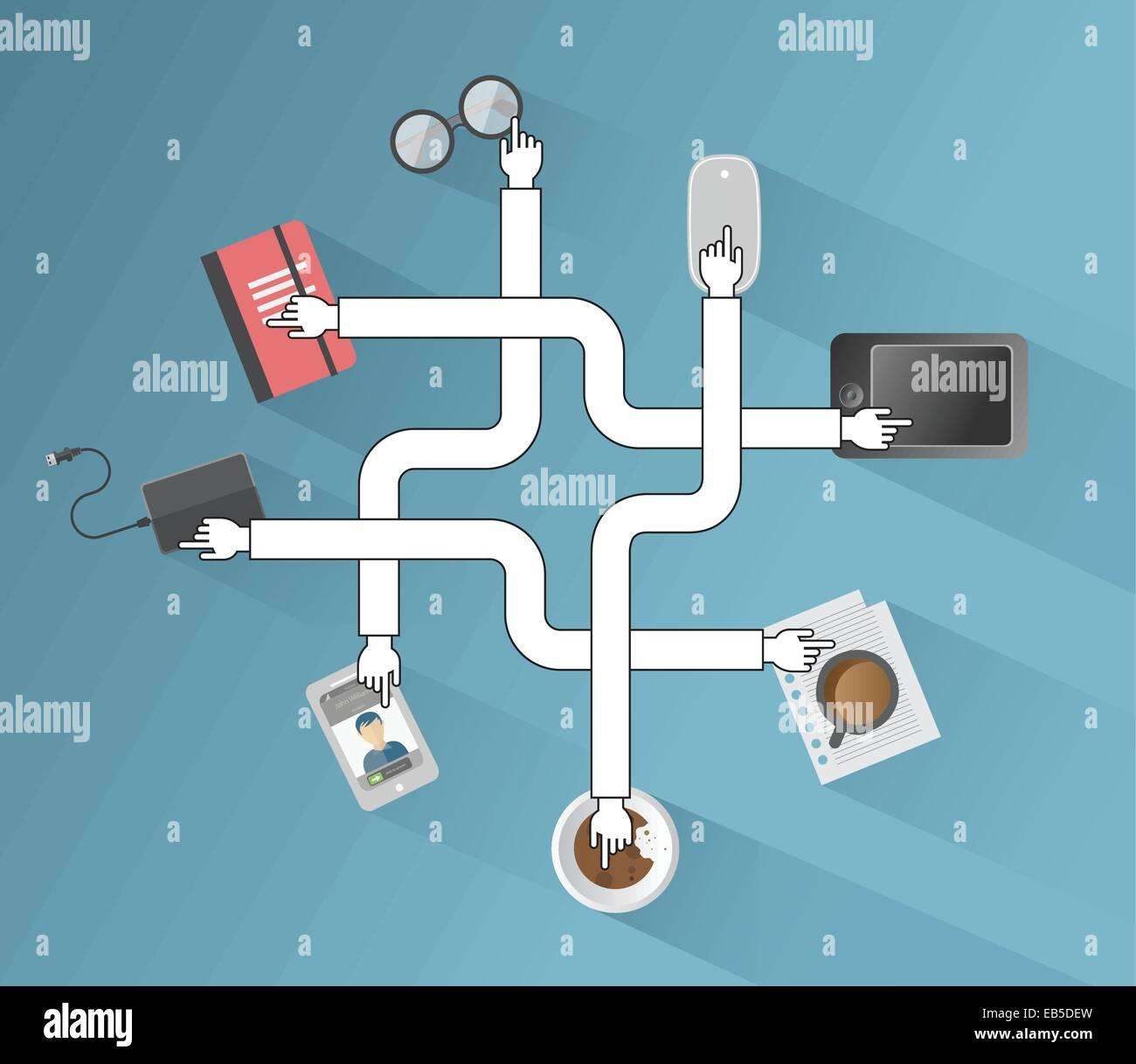 Los iconos de las aplicaciones empresariales y vector Imagen De Stock