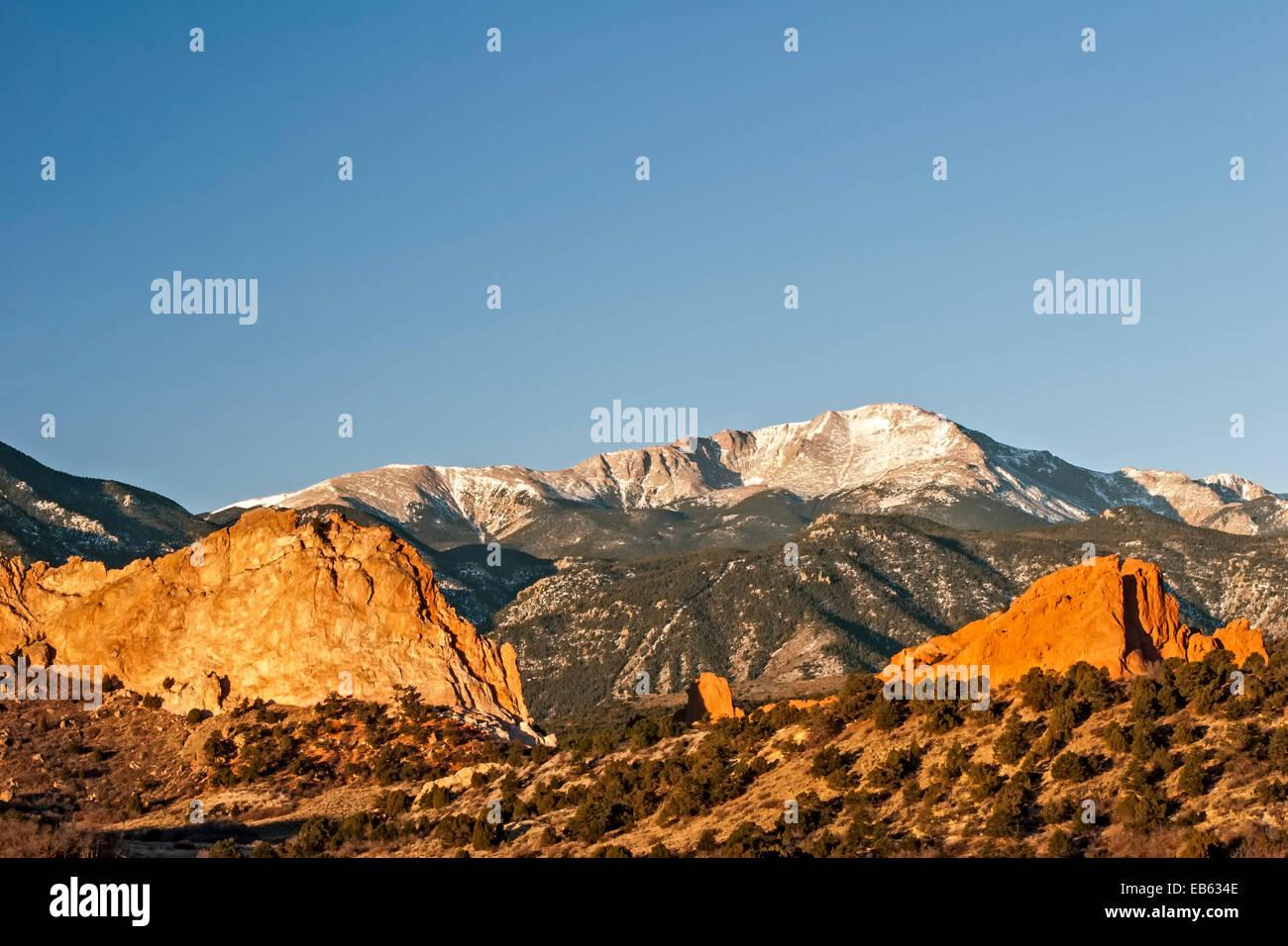 Pikes Peak Colorado Winter Imágenes De Stock & Pikes Peak Colorado ...