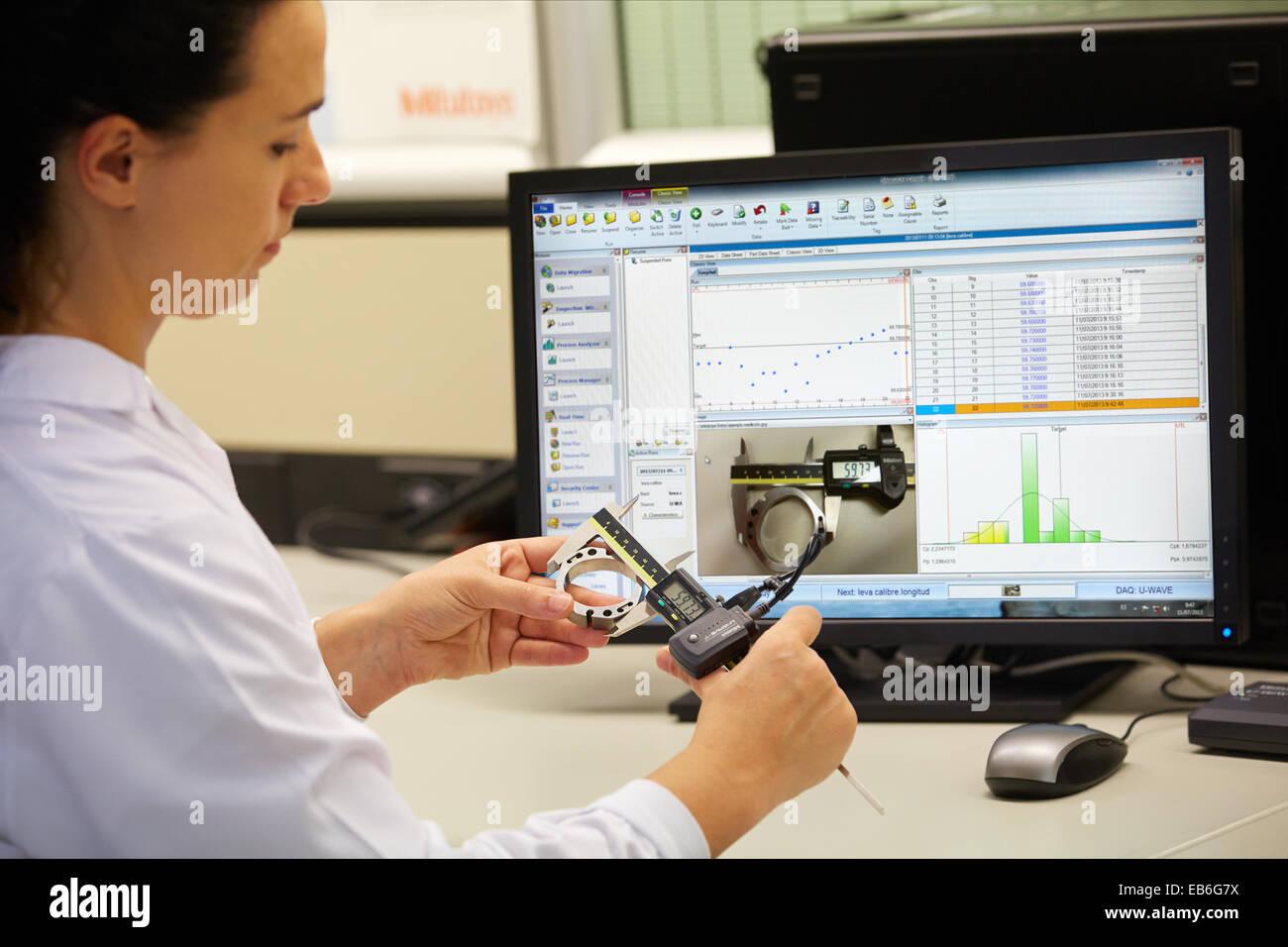 MeasurLink Statistical Software de recogida de datos para análisis estadístico aplicado Metrología Imagen De Stock