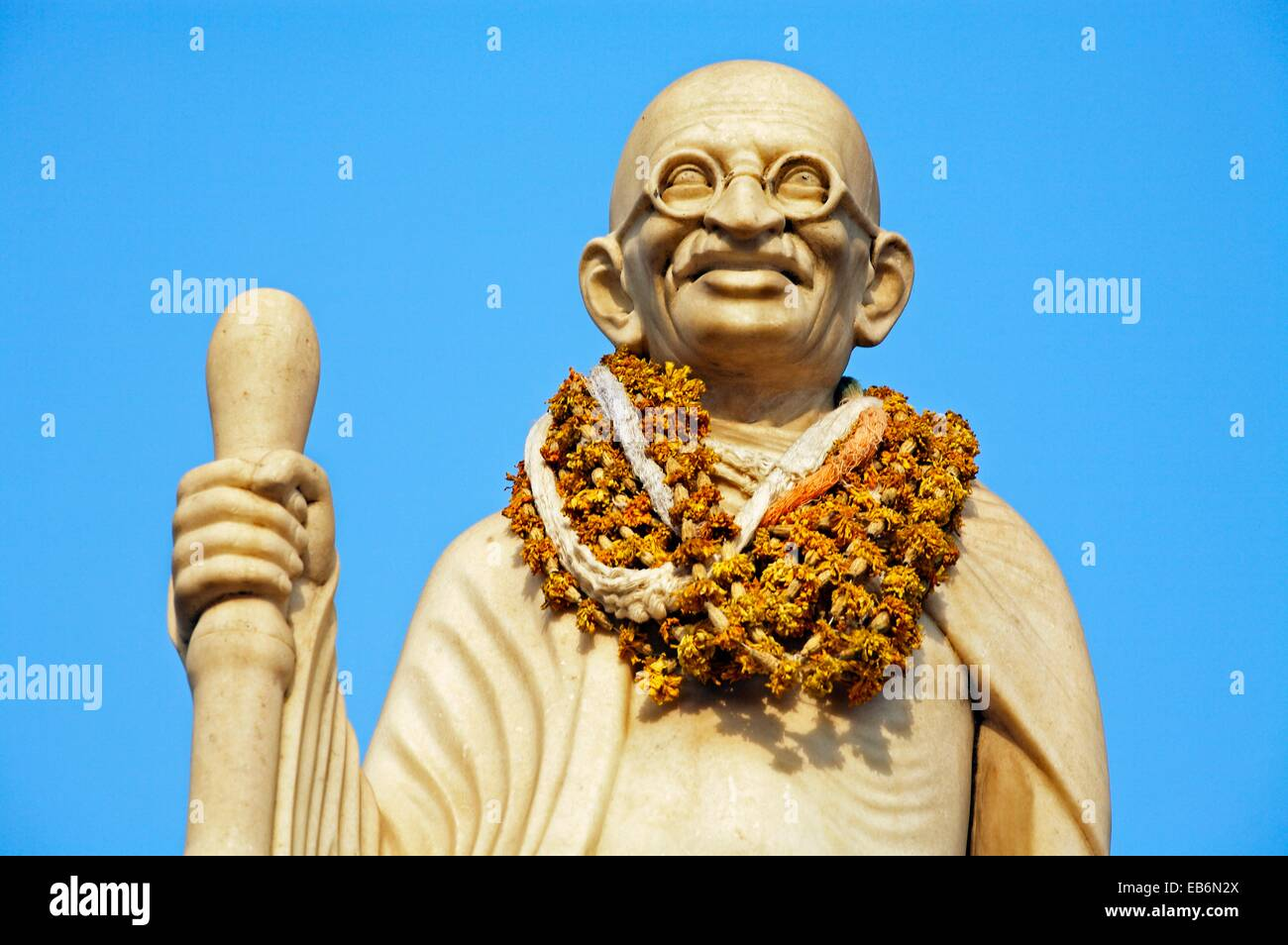 Estatua de Mahatma Gandhi 1869-1948 , Jaipur, Rajasthan, India. Foto de stock