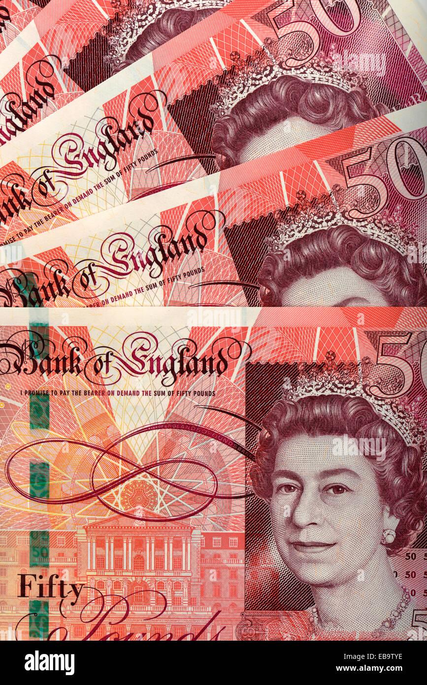 Los Billetes De 50 Libras Esterlinas Delantero Fotografía De Stock Alamy