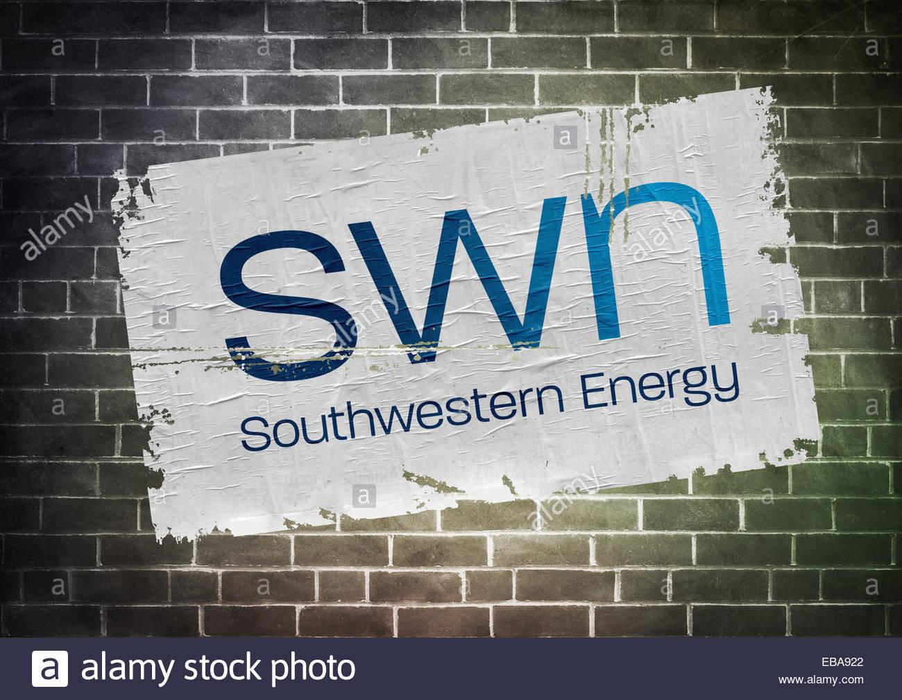 Southwestern Energy fracking póster icono del logotipo de la compañía Imagen De Stock