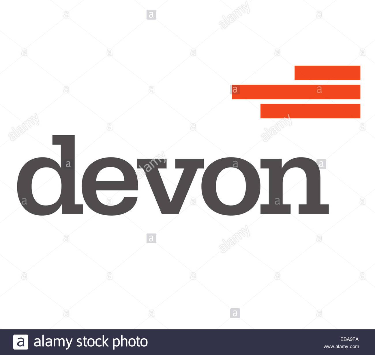 Devon Energy fracking signo icono del logotipo de la compañía Imagen De Stock