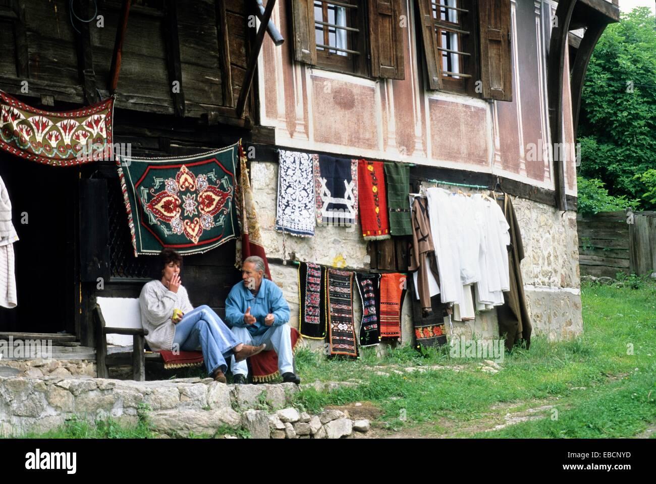 Tienda de artesanía, Koprivstica, Bulgaria, Europa Foto de stock