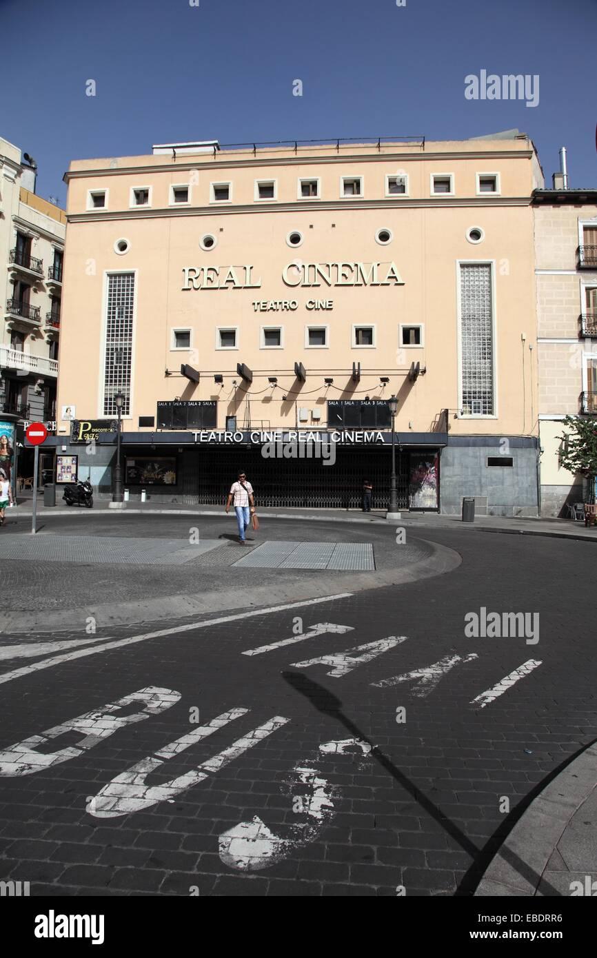 Cine Teatro Real Cinema, Madrid, España Imagen De Stock
