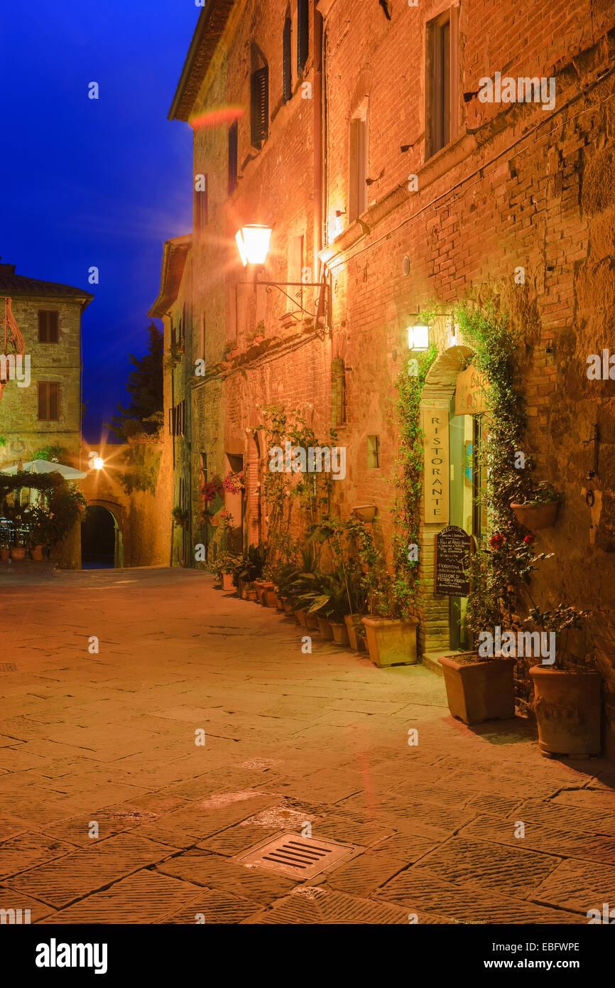 Las calles de Pienza, Toscana, Italia Imagen De Stock