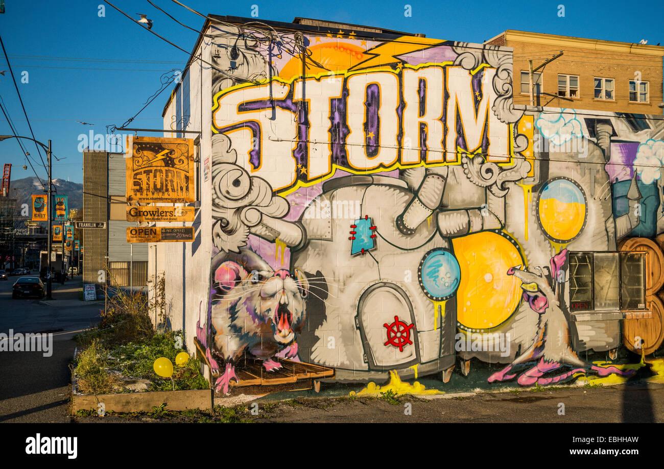 Storm Brewing Company, Commercial Drive, Vancouver, British Columbia, Canadá Imagen De Stock