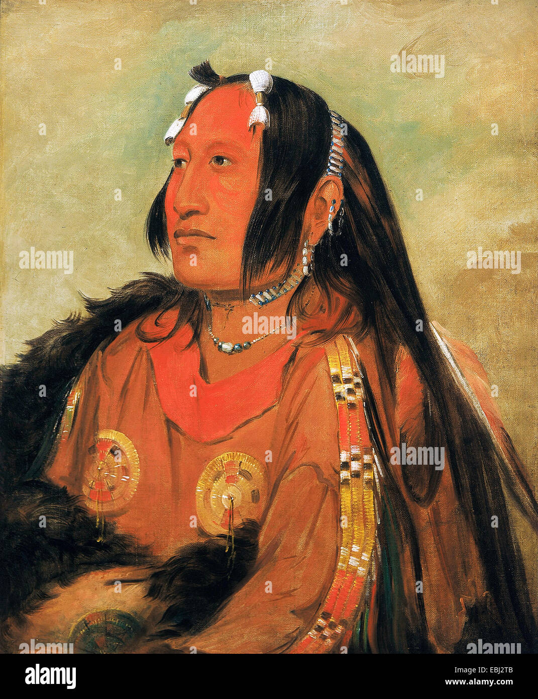 Paul Gauguin, Wi-jun-jon, cabeza de huevo de la Paloma (la luz), un distinguido joven guerrero 1831 Óleo sobre lienzo. Foto de stock