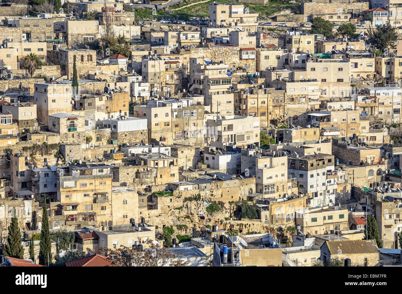 Jerusalén, Israel residencias en las colinas cerca de la ciudad vieja. Imagen De Stock