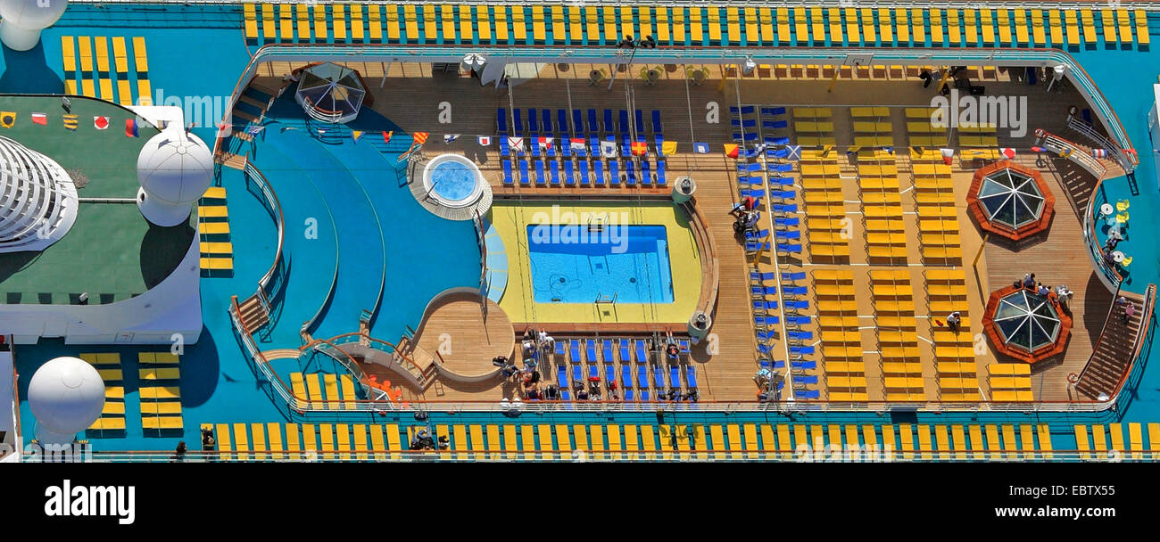 Sun Deck de AIDA Cara Imagen De Stock