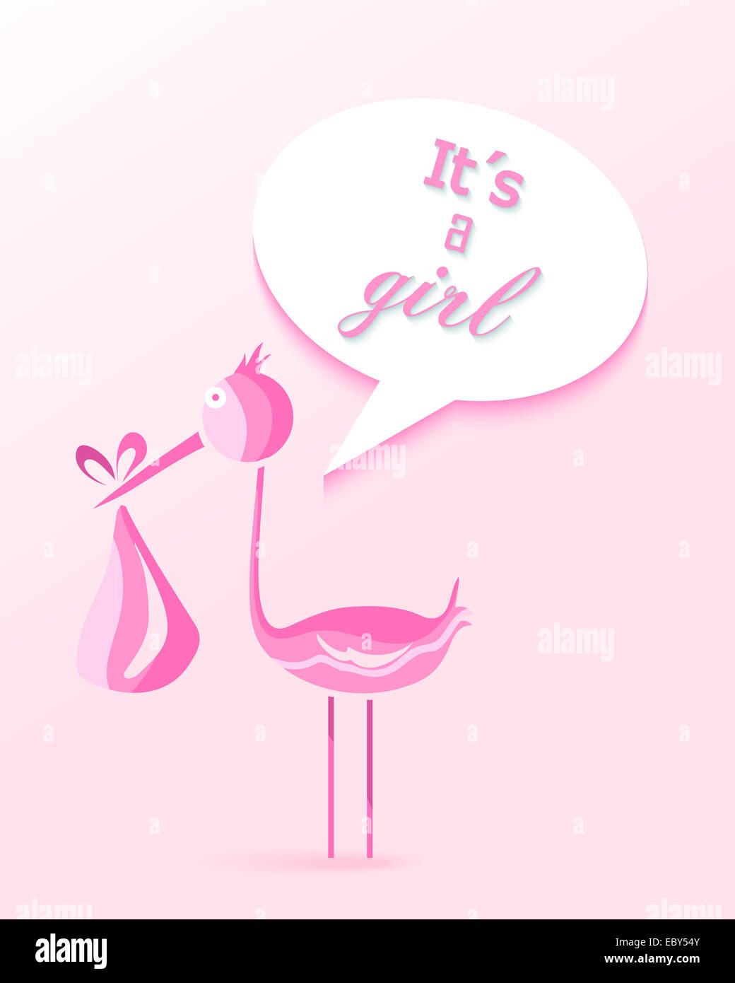 Baby Shower Niña Diseño De Tarjeta De Invitación A Una Niña