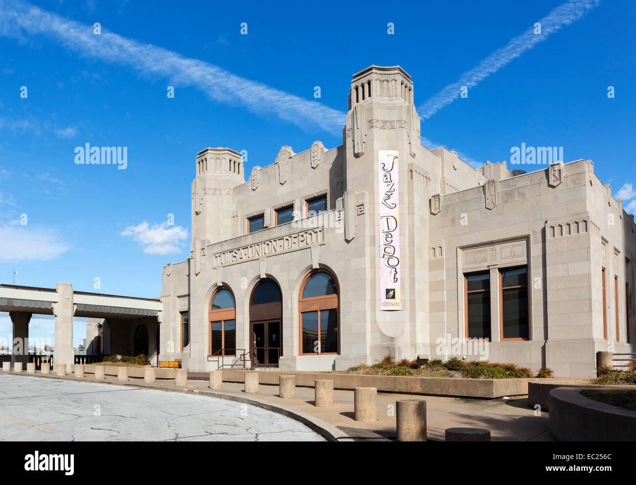 El Art-Deco Tulsa Union Depot, en Tulsa, Oklahoma, EE.UU. Imagen De Stock