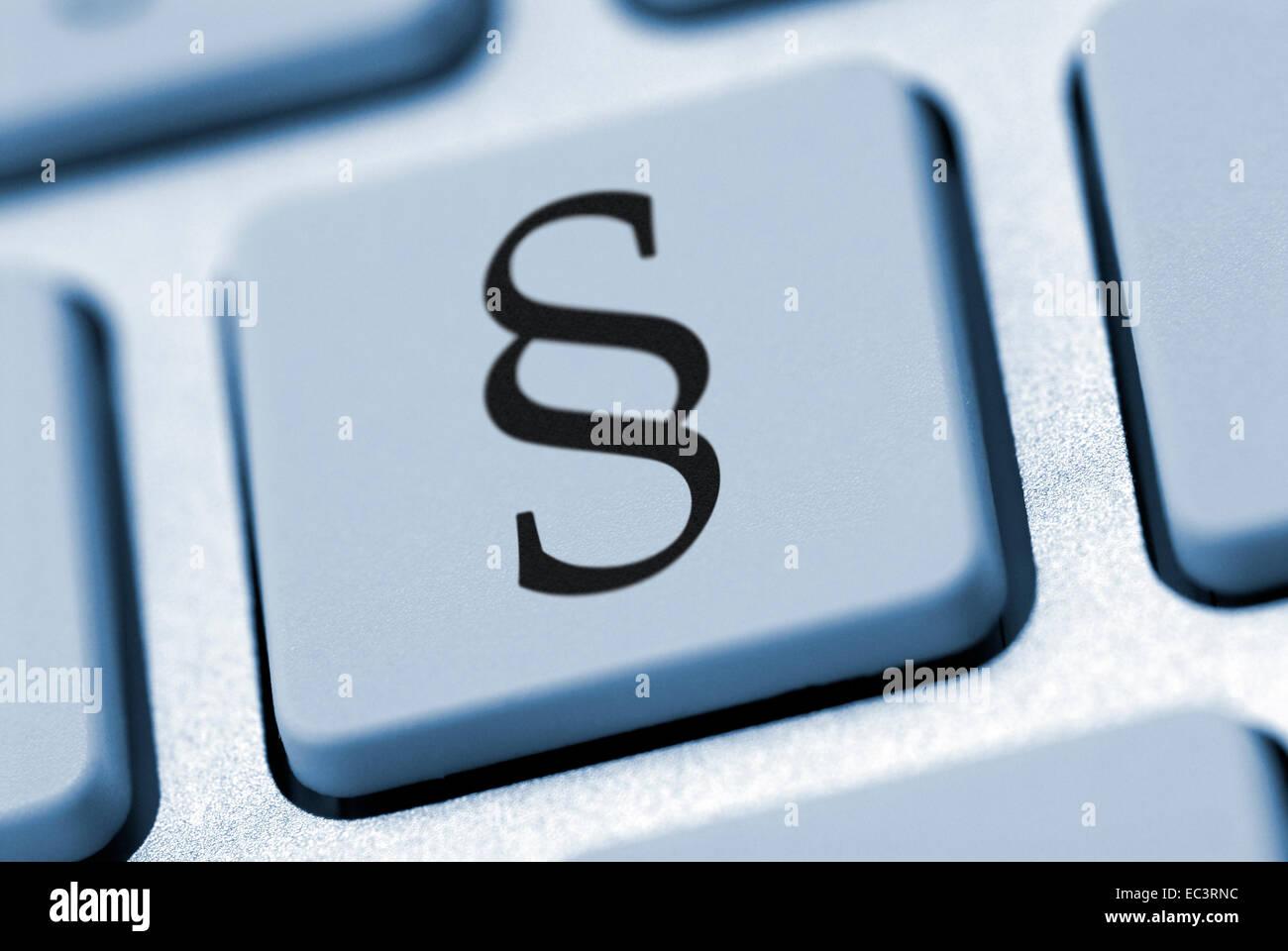 Teclado de ordenador con signo de párrafo Foto de stock