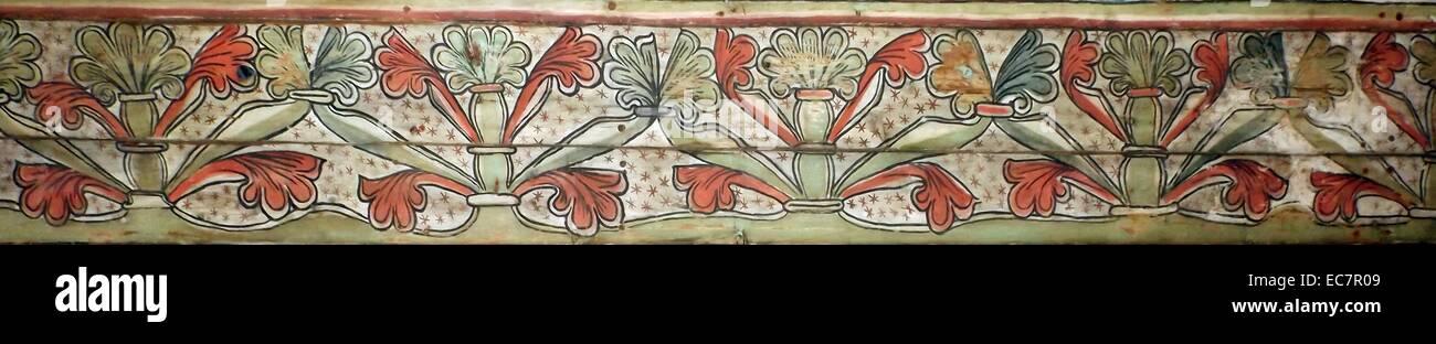 Los paneles del techo preservado de una iglesia Noruega data de 1200 AD. Imagen De Stock